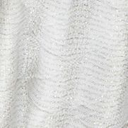 Juniors Scarves: Ivory Cejon Diamond Pleated Lurex Wrap Scarf
