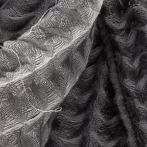Steve Madden: Charcoal Steve Madden Stripe Waffle Woven Blanket Wrap
