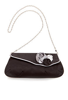 Magid Triple Rose Flap Evening Bag