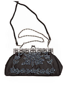 Magid Beaded Satin Clutch
