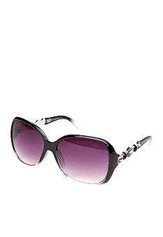 Steve Madden Glam Plastic Animal Stones Sunglasses