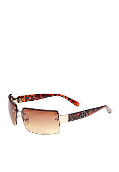 Steve Madden Rimless with Quilted Temple Sunglasses