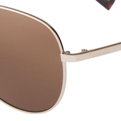 Aviator Sunglasses: Gold Calvin Klein Aviator Sunglasses
