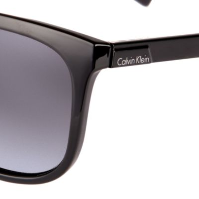 Wayfarer Sunglasses: Black Calvin Klein Oversized Surf Sunglasses