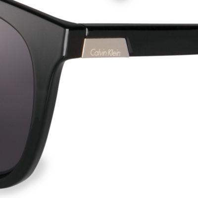 Fashion Sunglasses: Black Calvin Klein Oversized Rectangle Sunglasses