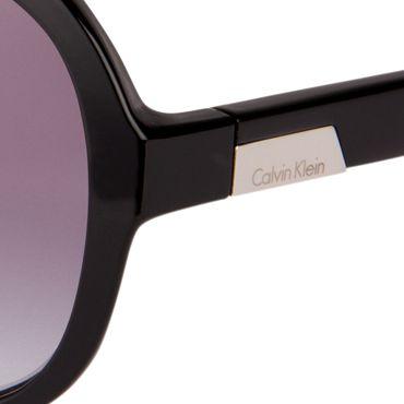 Oval Sunglasses: Black Calvin Klein Oval Two-Tone Sunglasses