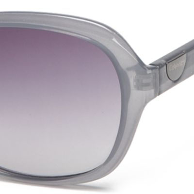 Rectangle Sunglasses: Milky Blue Calvin Klein Rectangle With Logo Button Sunglasses