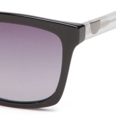 Fashion Sunglasses: Black Calvin Klein Surf With Logo Button Sunglasses