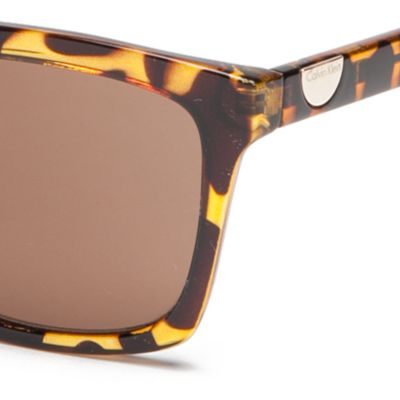 Calvin Klein Accessories: Tokyo Tortoise Calvin Klein Surf With Logo Button Sunglasses