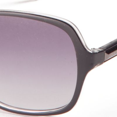 Calvin Klein Sunglasses: Black Calvin Klein Large Rectangle Sunglasses