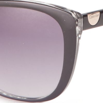 Womens Sunglasses: Black Calvin Klein Cat Eye Sunglasses