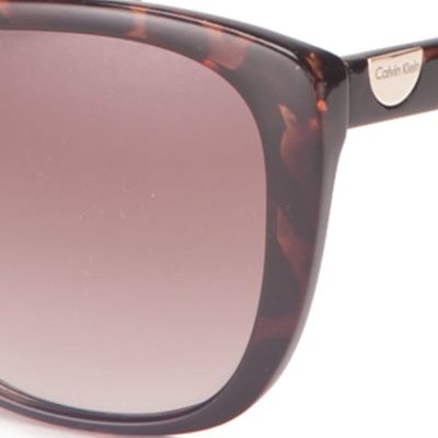 Cat Eye Sunglasses: Tokyo Tortoise Calvin Klein Cat Eye Sunglasses