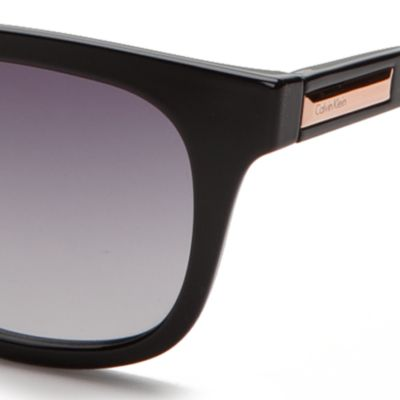 Calvin Klein Sunglasses: Black Calvin Klein Square Sunglasses