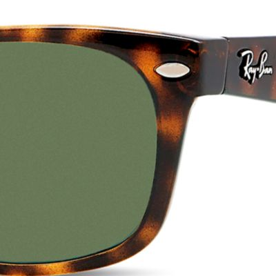 Mens Sunglasses: Tortoise Ray-Ban New Classic Wayfarer Sunglasses