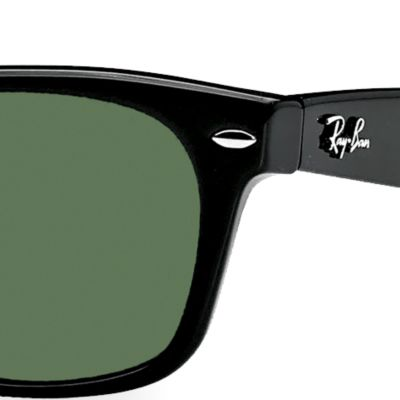 Mens Sunglasses: Black Ray-Ban New Wayfarer Sunglasses