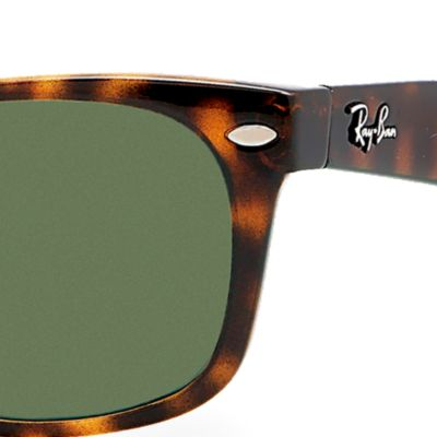 Ray-Ban: Dark Tortoise Ray-Ban New Wayfarer® 52-mm. Sunglasses