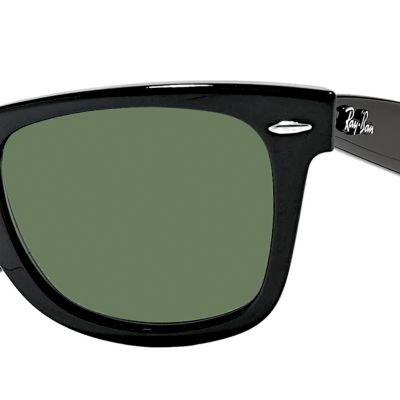 Mens Sunglasses: Black Ray-Ban Classic Wayfarer Sunglasses