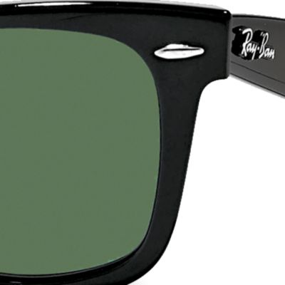 Ray-Ban: Black Ray-Ban Wayfarer 50-mm. Sunglasses