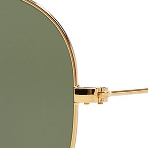 Womens Sunglasses: Gold/Dark Green Ray-Ban Original Aviator 58-mm. Sunglasses