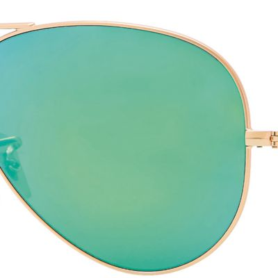Mens Sunglasses: Green Ray-Ban Classic Aviator Sunglasses