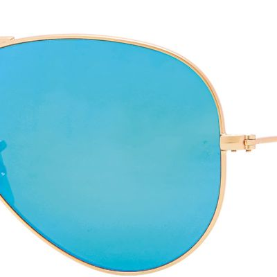 Handbags & Accessories: Ray-ban Designer Sunglasses: Blue Ray-Ban Classic Aviator Sunglasses