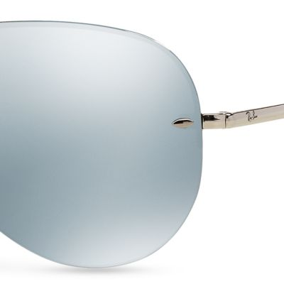 Guys Sunglasses: Green Ray-Ban Flash Mirror Aviator 59-mm. Sunglasses