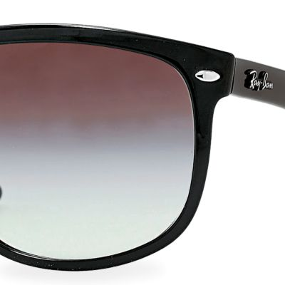 Ray-Ban: Black Ray-Ban Flat Top Boyfriend Sunglasses