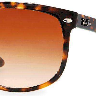 Discount Designer Sunglasses: Tortoise Ray-Ban Flat Top Boyfriend Sunglasses
