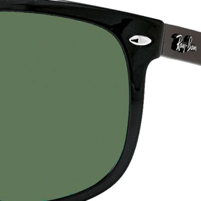 Fashion Sunglasses: Black Polar Ray-Ban Flat Top Boyfriend Sunglasses