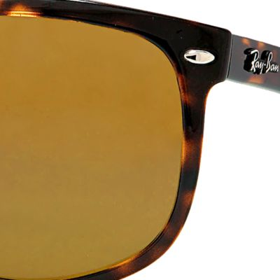 Ray-Ban: Tortoise Polar Ray-Ban Flat Top Boyfriend Sunglasses
