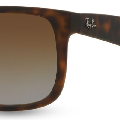 Mens Sunglasses: Tortoise Ray-Ban Justin 55-mm. Sunglasses