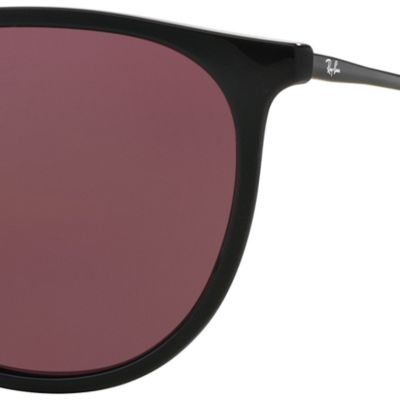 Mens Sunglasses: Black Purple Ray-Ban Erika 54-mm. Sunglasses
