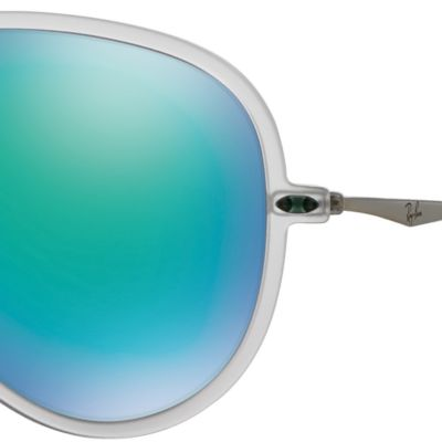 Mens Sunglasses: Green Mirror Ray-Ban Lightforce Flash Aviator Sunglasses