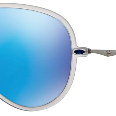 Mens Sunglasses: Blue Mirror Ray-Ban Lightforce Flash Aviator Sunglasses