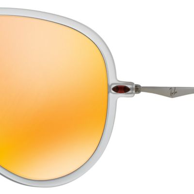 Mens Sunglasses: Orange Mirror Ray-Ban Lightforce Flash Aviator Sunglasses