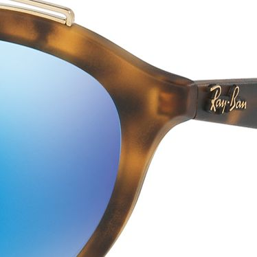 Guys Sunglasses: Havana Blue Ray-Ban Gatsy Sunglasses
