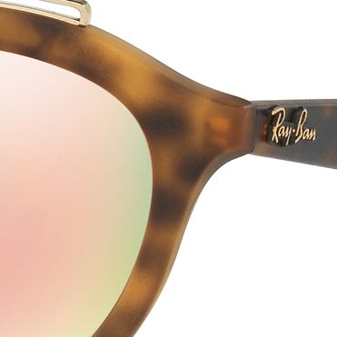Guys Sunglasses: Havana Pink Ray-Ban Gatsy Sunglasses