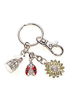 Kim Rogers® Boxed Sunflower, Ladybug and Bird Charm Keychain
