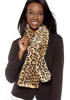 Lauren Ralph Lauren Faux Fur Leopard Scarf