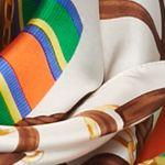 Designer Scarves: Cream Lauren Ralph Lauren Tania Silk Scarf