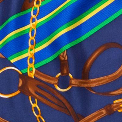 Designer Scarves: Navy Lauren Ralph Lauren Tania Silk Scarf
