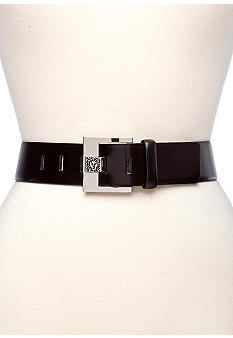 Anne Klein 1.75-in. L Contour Belt with Lion Logo Prong