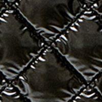 Juniors: Steve Madden Accessories: Metallic Black Steve Madden BQUILTED Weekender Bag