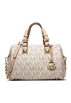 MICHAEL Michael Kors Medium Grayson PVC Logo Satchel