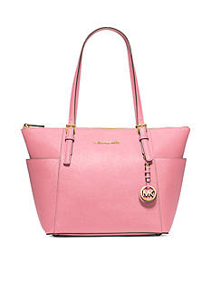 MICHAEL Michael Kors Jet Set Top-Zip Saffiano Leather Tote
