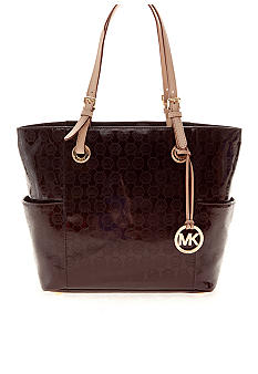 MICHAEL Michael Kors Jet Set East/West Signature Mono Embossed Tote