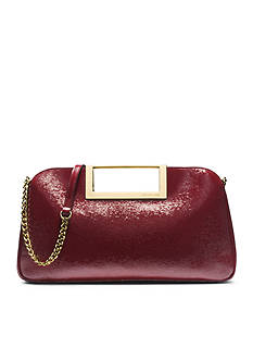 MICHAEL Michael Kors Berkley Patent-Leather Large Clutch