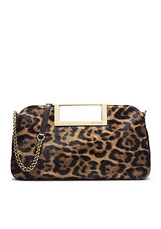 MICHAEL Michael Kors Berkley Leopard-Print Calf Hair Clutch