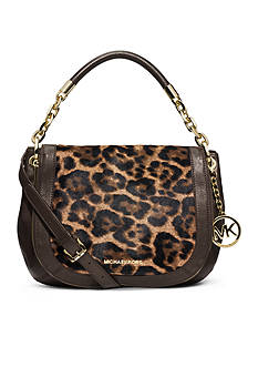 MICHAEL Michael Kors Stanthorpe Leopard Hair Calf Medium Shoulder Bag