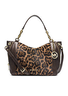 MICHAEL Michael Kors Stanthorpe Leopard Hair Calf Large Satchel
